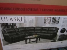Pulaski leather power reclining sectional sofa, unchecked and boxed. RRP £1099 | 3x Boxes