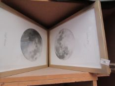 | 1X | MADE.COM FRAMED MOON PHASE WALL ART, ONLY 2 OF THE SET HAS SURVIVED | UNCHECKED | RRP £- |