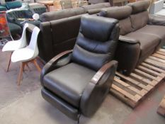 Costco leather rocking reclining armchair , part of the recliner has come apart.