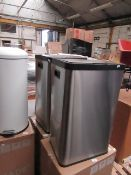 | 1X | MADE.COM FIKRAN 60L TOUCH FREE STAINLESS STEEL SENSOR BIN | MAY HAVE DENTS AND MARKS, BOXED |