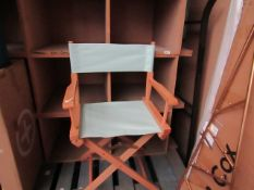 | 1X | MADE.COM FOLD AWAY DIRECTORS CHAIR | UNCHECKED | RRP £- |