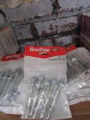 6x Packs of Fischer throughbolts 10 x 96, new and packaged.
