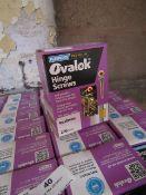 6x Boxes of 4x30mm Ova Lok Hinge screws from Plasplugs, each box has 200 screws in.