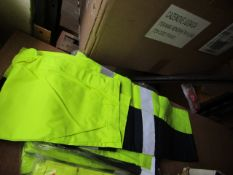 Unbranded - Hi-Vis Yellow 2-Tone Trousers - Size 30 - Unused & Packaged.