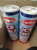 2x Carplan - Ice Melt (Melts Ice & Snow) 750g Tubes - Unused.