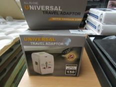 3x All-in-One - Travel Adapter With 1000mA USB - Unused & Boxed.