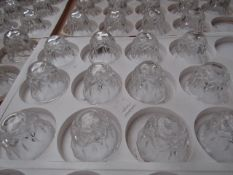 50x Clear Glass Candle Holder (Taper Candle) - All Unused.