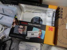 Kodak Printomatic Digital Instant Print Camera   Unchecked & Damage to Original Packaging