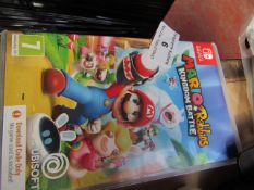 """Nintendo Switch """"Mario + Rabbids Kingdom Battle"""", RATED 7+   Unchecked & Boxed"""