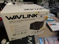 Wavlink USB 3.0 Dual Bay Docking Station   Unchecked & Boxed