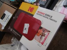 KodakSmile Instant Digital Printer   Unchecked & boxed