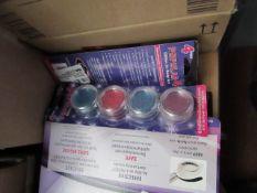 5 x pcks of 4 per pack GlitZGlam Body Art Glitter Pots new & packaged