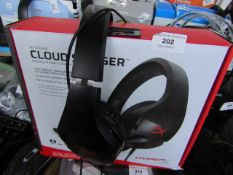HyperX Cloud Stinger Wired Gaming Headset - Tested For Sound not tested mic & Boxed.