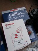 Boltune Earbuds with Case | Unchecked & Boxed + Franklin Collins Crossword Solver | Unchecked and