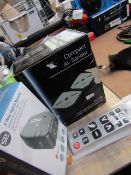 3 Items; SLX 2 Way Signal Booster | Unchecked and Boxed, Seki Big Button Remote Control, Unchecked