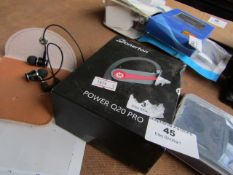 4 Items; Black Earbuds, Unchecked + Donerton Power Q20 Pro earpiece | Unchecked & Boxed + Route