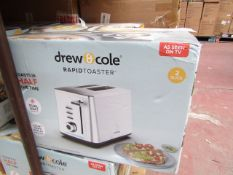 | 4X | DREW & COLE RAPID TWO SLICE TOASTER | UNCHECKED & BOXED | NO ONLINE RESALE | RRP CIRCA £49.99