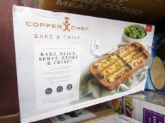 | 1X | COPPER CHEF BAKE & CRISP | UNCHECKED & BOXED | NO ONLINE RESALE | RRP £15.99 |