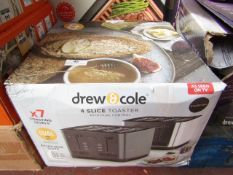 | 1X | DREW & COLE 4 SLICE TOASTER DUAL CONTROL | UNCHECKED & BOXED | NO ONLINE RESALE | SKU- |