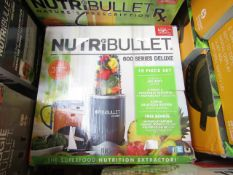| 1X | NUTRI BULLET 600 SERIES DELUXE | UNCHECKED & BOXED | NO ONLINE RESALE | SKU - | RRP £59.99 |