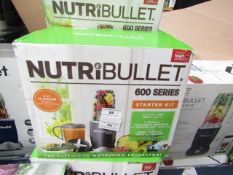 | 3X | NUTRI BULLET 600 SERIES | UNCHECKED & BOXED | NO ONLINE RESALE | SKU- | RRP £59.99 | TOTAL