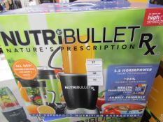 | 1X | NUTRI BULLET RX | UNCHECKED & BOXED | NO ONLINE RESALE | SKU - | RRP £129.99 |