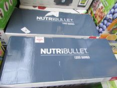 | 2X | NUTRI BULLET 1200 SERIES BLENDER | UNCHECKED & BOXED | NO ONLINE RESALE | SKU - | RRP £119.99