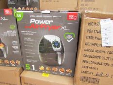 | 5X | POWER AIR FRYER 5L | UNCHECKED AND BOXED | NO ONLINE RE-SALE | SKU C5060191466936| RRP £99.99
