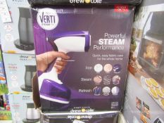| 4X | VERTI STEAM PRO | UNCHECKED AND BOXED | NO ONLINE RESALE | SKU- | RRP £43.99 | TOTAL LOT