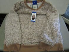 Jachs Girlfriend Fleect Top Ladies Peach Colour Size L New With Tags