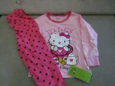 2 X Pairs of Baby Gap Girls Pyjamas Aged 5yrs New & Packaged