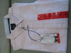 Crew Clothing Company, Mens Oxford Slim Fit Shirt Silver/Pink Size M New With Tags