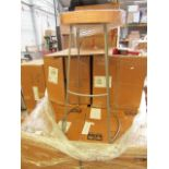 | 1x | SWOON.COM WELLES WARM COPPER BAR STOOL | NO VISIBLE DAMAGE LOOK LIKE NEW & BOXED | RRP £119 |