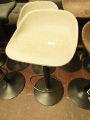 | 1X | COX & COX FAUX LEATHER COUNTER STOOL - GREY | UNCHECKED & LOOKS UNUSED (NO GURANTEE) | RRP £