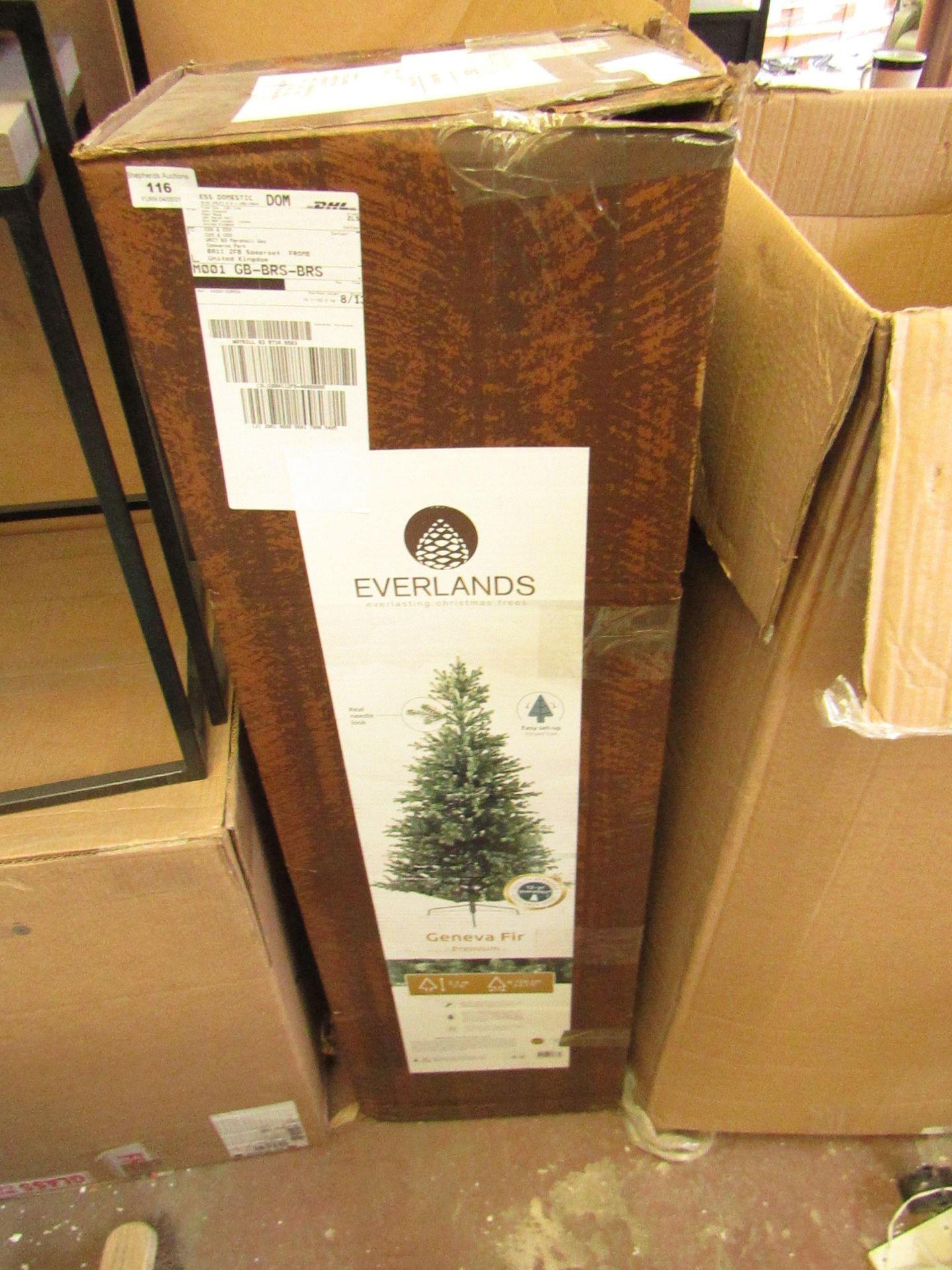   1X   COX & COX EVERLANDS GENEVA FIR PREMIUM TREE 7FT   UNCHECKED & BOXED   RRP -  