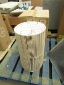 | 1x | MADE.COM HAND WOVEN LAUNDRY BASKET CREAM | NO VISIBLE DAMAGE & BOXED | RRP £ - |