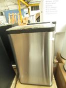| 1x | MADE.COM FIKRAN TOUCH FREE STAINLESS STEEL 60L SENSOR BIN SILVER | MAY CONTAIN MARKS OR DINTS