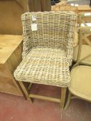| 1X | COX & COX ROUND RATTAN DINING CHAIR | LOOKS IN GOOD CONDITION (NOTE THIS IS JUST OUR OPINION)