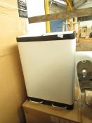| 1x | MADE.COM COLTER DOUBLE SOFT CLOSE 60L RECYCLING PEDAL BIN CREAM | MAY CONTAIN MARKS OR