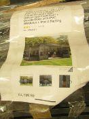 Sojag Charleston 12ft x 18ft aluminium frame solarium with galvanised steel roof + double door