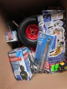 1x BOX OF VARIOUS TOOLS 502 This lot is a Machine Mart product which is raw and completely unchecked