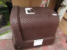 | 1x | HOMCOM PAWHUT BROWN PLASTIC PET CARRIER BOX | CRACKED ON SIDES & BOXED | SKU D31-002 |