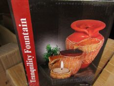 Tranquility Fountain - Battery Operated / Includes Candle Holder - Unused & Boxed.