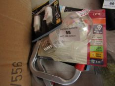 6x Various items such as bulbs, all unchecked.