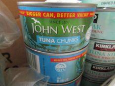 4x 200g tins of John West Tuna Chunks BB June 2023