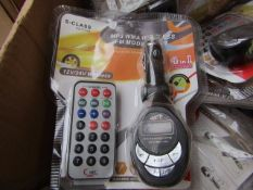 10x MP3 WMA Wireless FM Modulator 4-in-1 - Unused & Packaged.