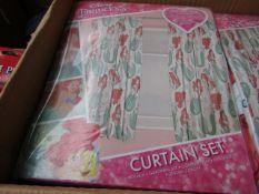 2x Disney Princess - Mermaid Curtain Set ( 168 x 137 cm ) - New & Packaged.