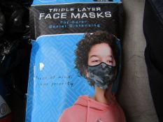 1 x Social Lab 4 pack of face masks, new and packaged.