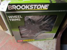 """Brookstone - Ignition 14"""" Set Of 4 Wheel Trims - Unchecked & Boxed."""