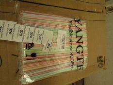 2x Packs of 300 Flexible Straws - Unused & Packaged.